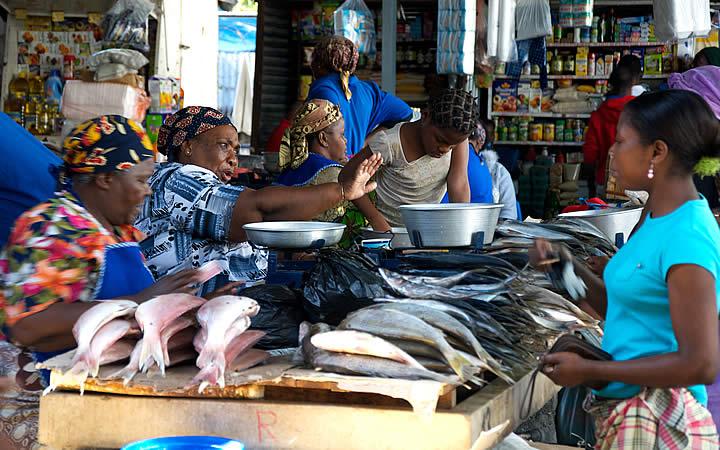 Mercado do Peixe em Maputo - Moçambique