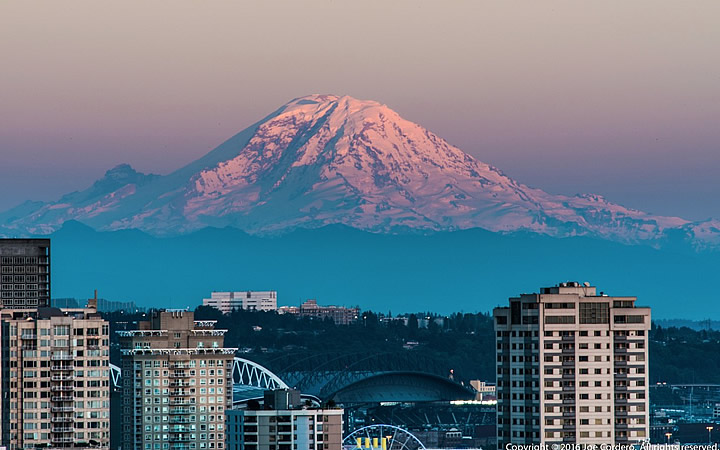 Mount Rainier em Seattle