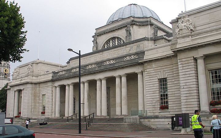 Museu nacional em Cardiff