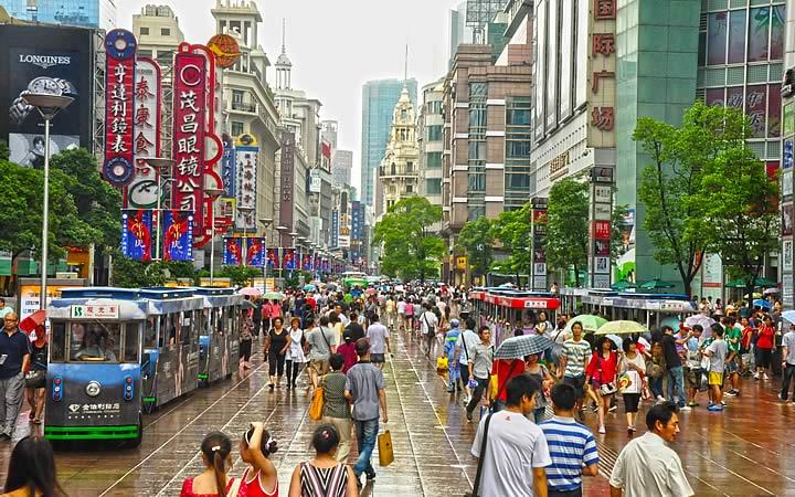 Nanjing Road em Xangai