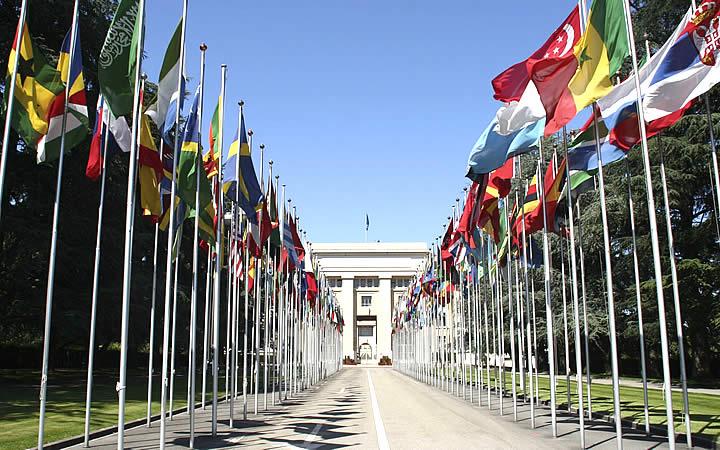 Palácio das Nações em Genebra