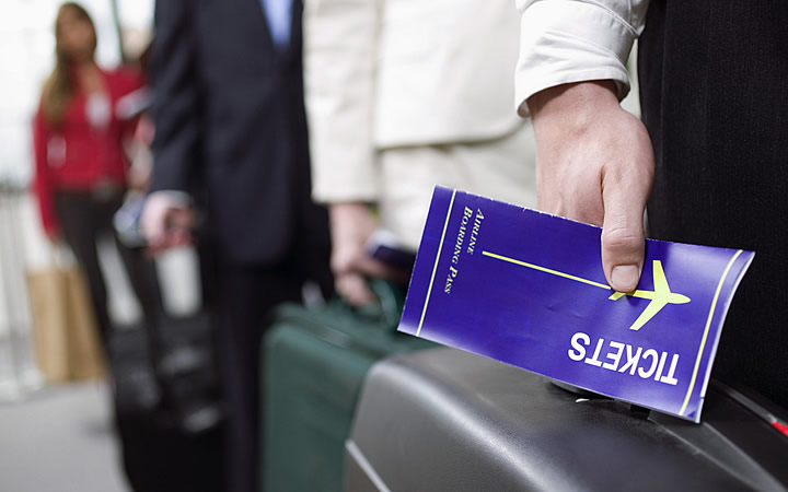 Passageiro com o seu tickets