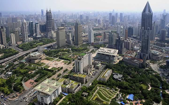People's Square ou Praça do Povo em Xangai