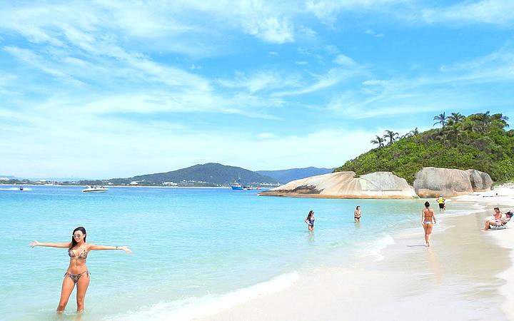 Praia do Campeche em Florianópolis