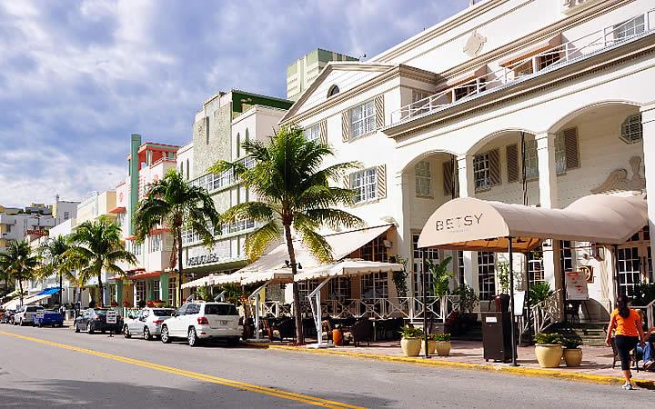 Quinta avenida em Miami