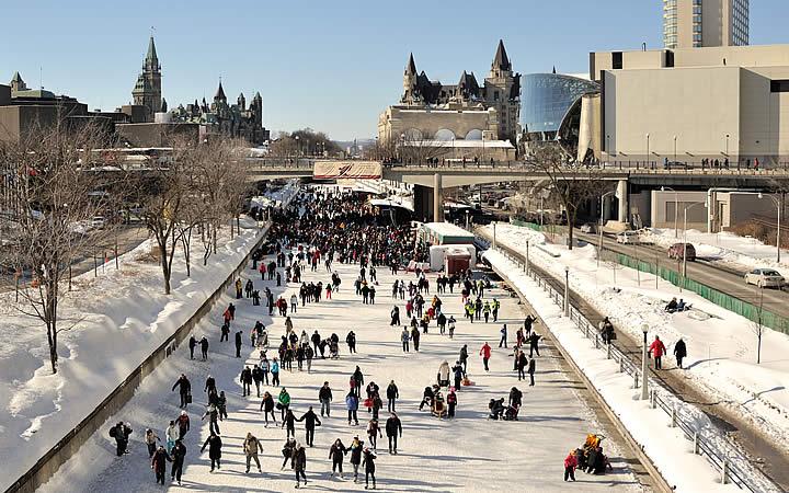 Rideau Canal Skateway em Ottawa