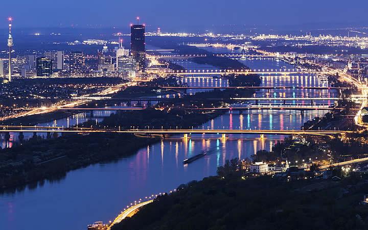 Rio Danúbio em Viena