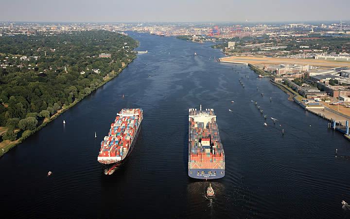 Rio Elba em Hamburgo