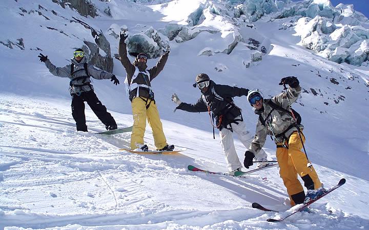 Snowboarding em Chamonix