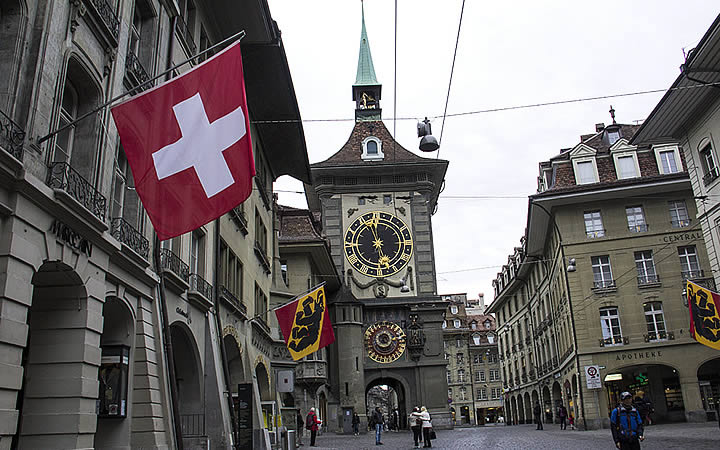 Torre do relógio em Berna