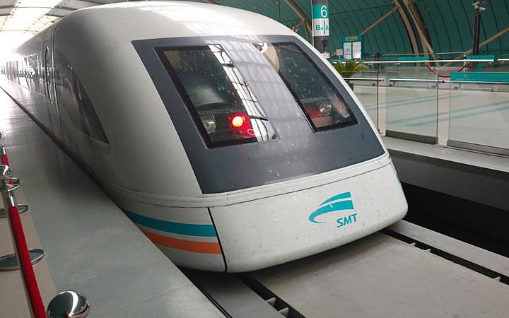Trem Maglev em Xangai