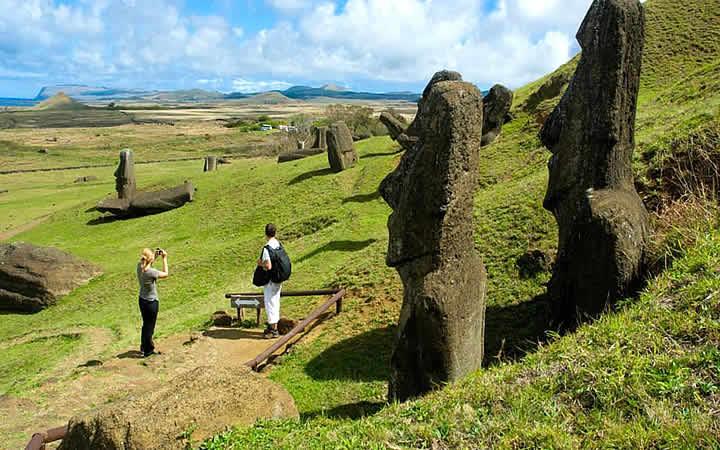 Viajante em Ilha de Páscoa