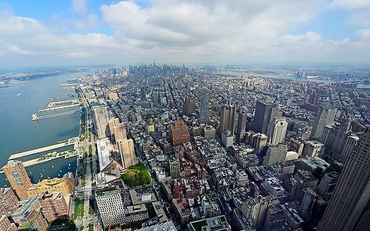Vista do One World Observatory em Nova Iorque