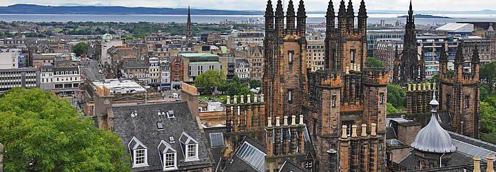 Vista do rooftop do prédio da Camera Obscura - Edimburgo
