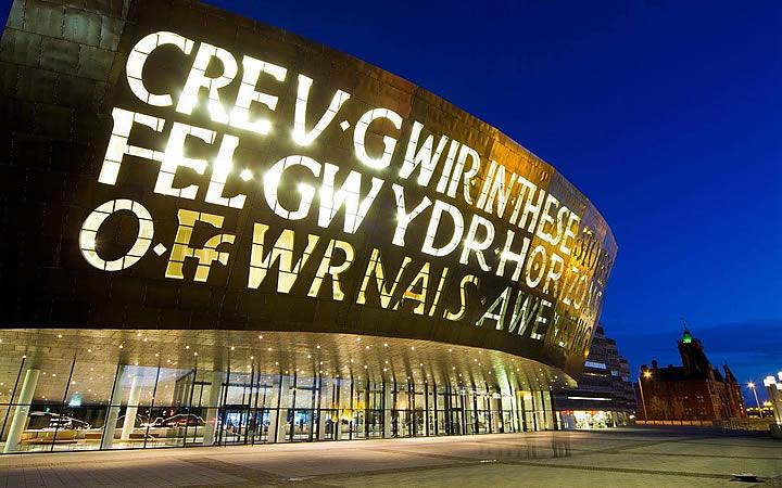 Wales Millennium Centre em Cardiff