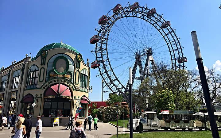 Wiener Riesenrad em Viena