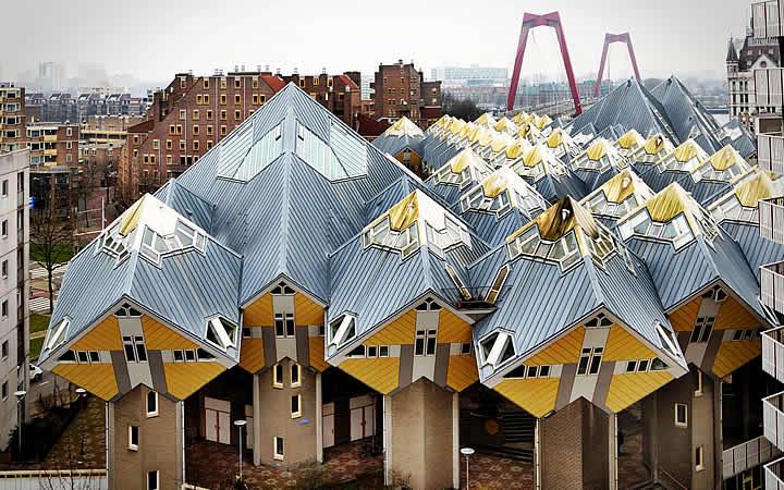 Casa de cubo em Roterdã