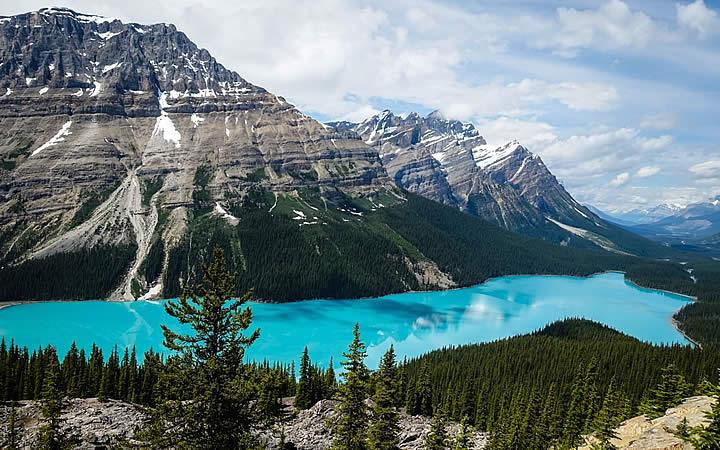 Lago Moraine, Parque Nacional de Banff, Canadá