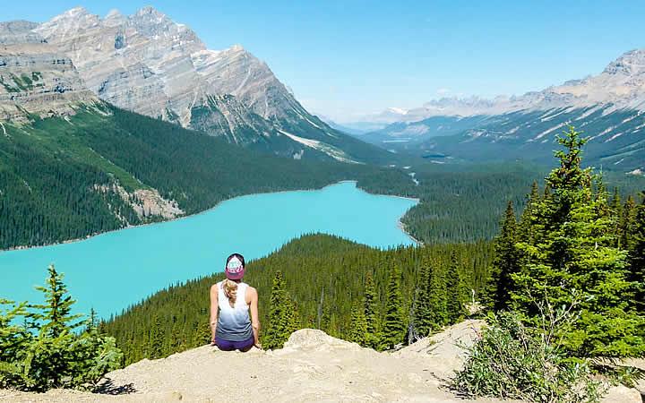Peyto Lake no Parque Nacional de Banff