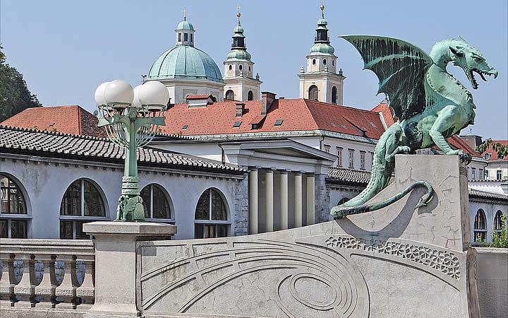 Ponte do Dragão em Liubliana