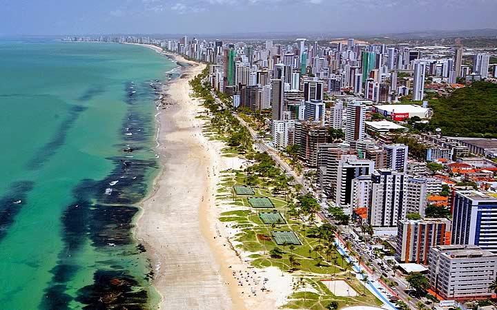Praia de Boa Viagem em Olinda