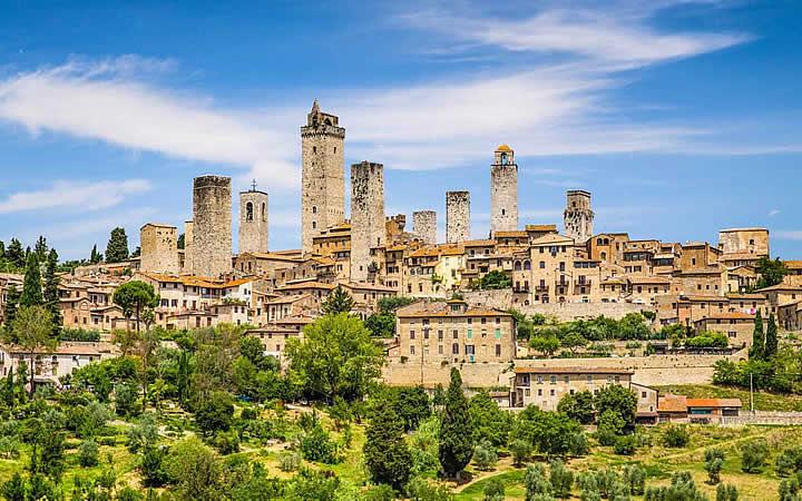 San Gimignano em Região de Toscana