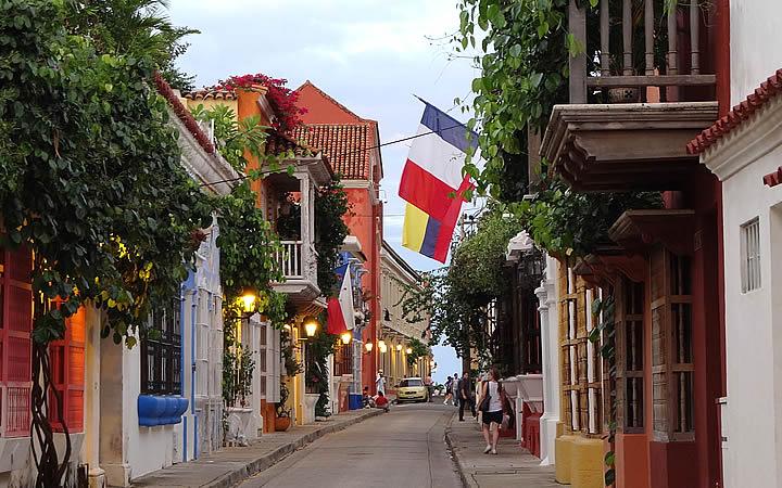 Bairro de San Diego em Cartagena