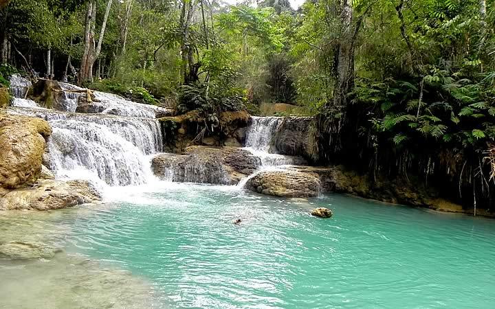 Cachoeira em Luang Prabang