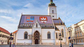 Igreja de São Marcos em Zagreb - Croácia