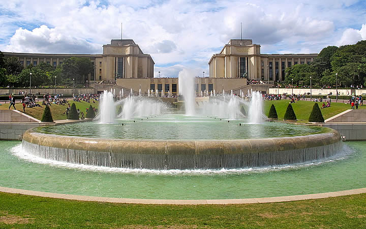 Jardins du Trocadéro em Paris