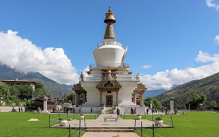 Monumento Chorten em Butão