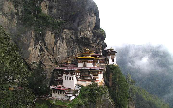 Mosteiro de Takshang (Ninho do Tigre) em Butão