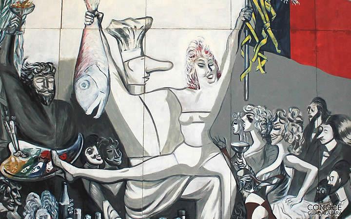 Obra de arte na Casa-museu José Clemente Orozco em Guadalajara