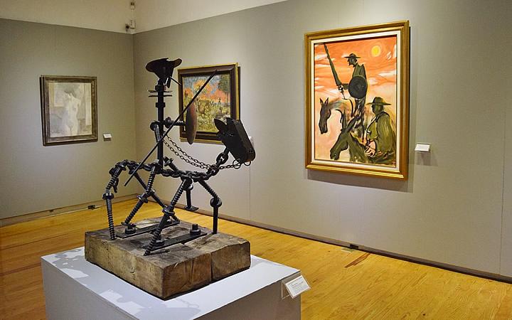Obras no Museu do Don Quixote em Guanajuato