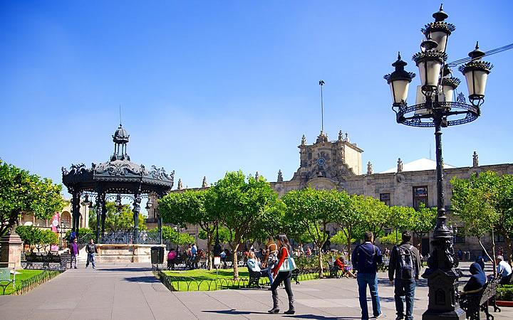 Plaza de Armas em Guadalajara
