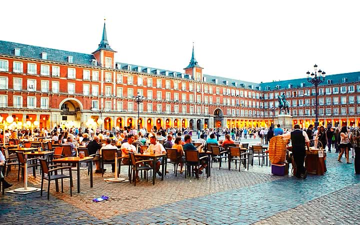 Plaza mayor em Madrid
