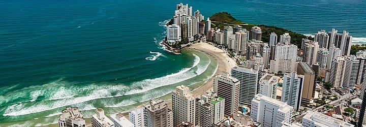 Praia de Guarujá - Visão da aérea