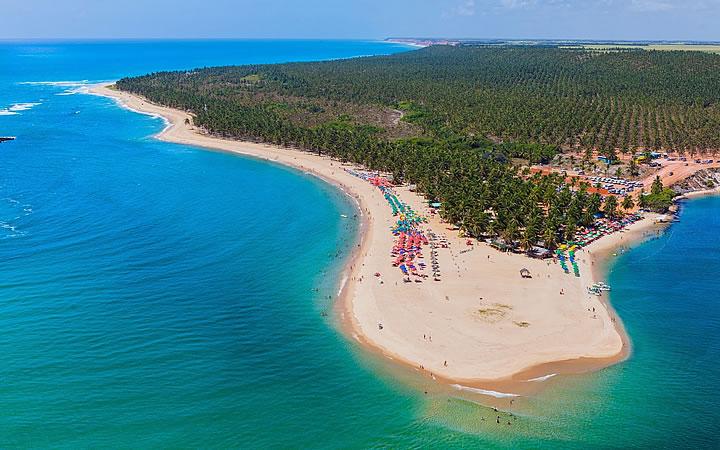 Praia do Gunga em Maceió