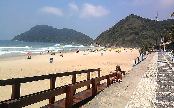 Praia do Tombo em Itanhaém