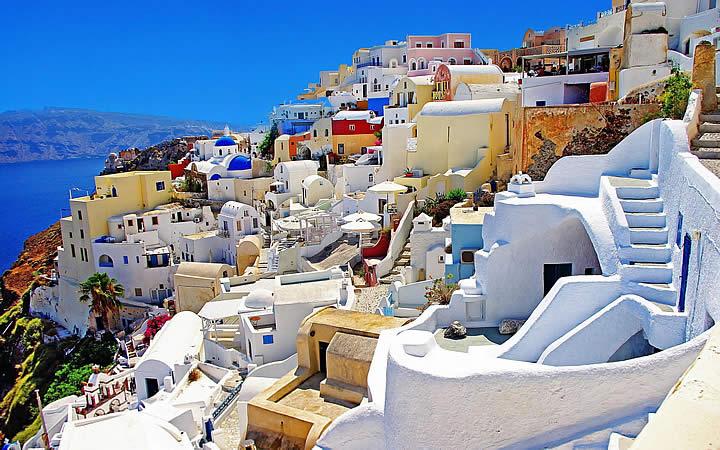 Santorini - Casas a beira Mar