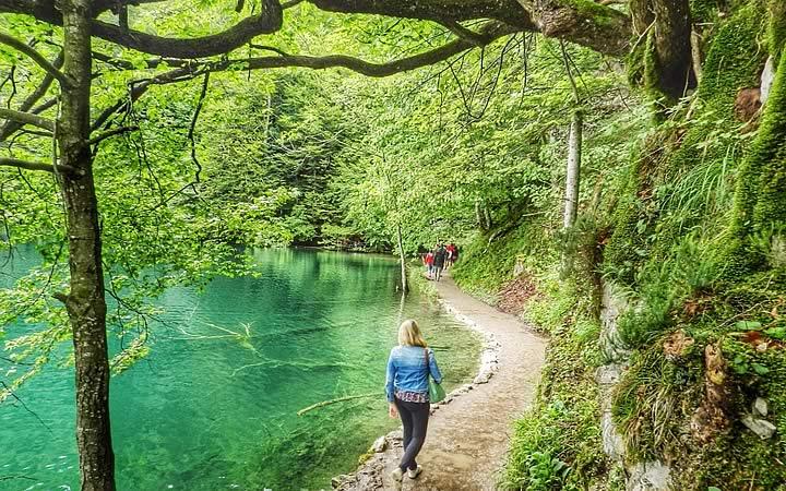 Trilha - Lago Plitvice