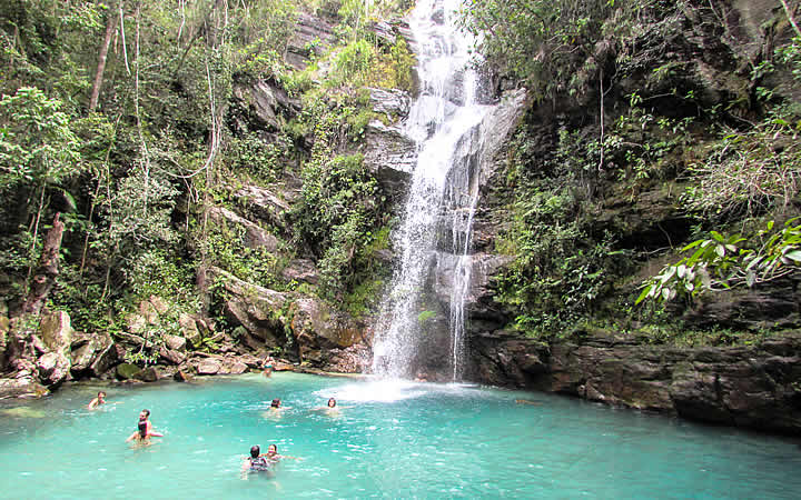 Cachoeira de Santa Bárbara na Chapada dos Veadeiros