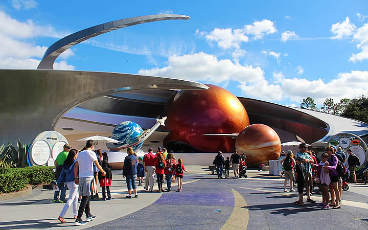 Mission Space, no parque Epcot