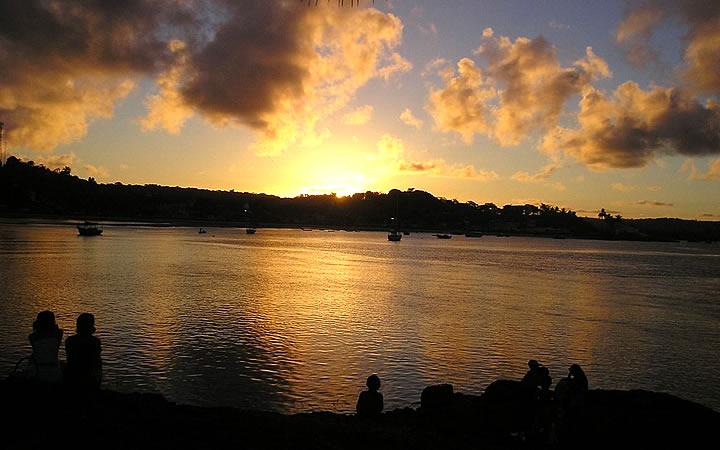 Pôr do sol na Praia da Concha
