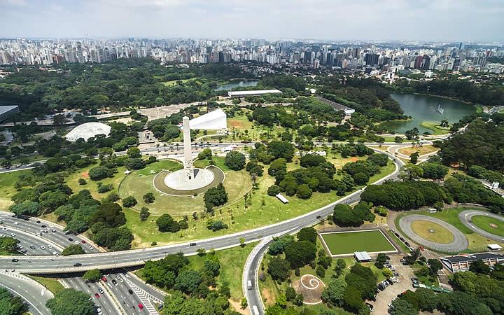 Parque do Ibirapuera em São Paulo