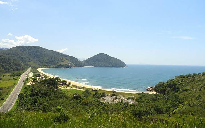 Praia Vermelha do Norte em Ubatuba