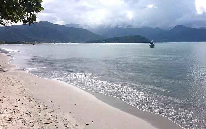 Praia do Itaguá em Ubatuba