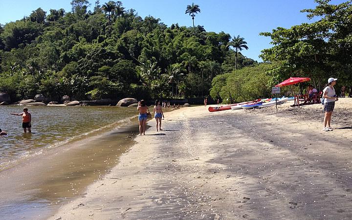 Praia do Jabaquara - Areia Preta