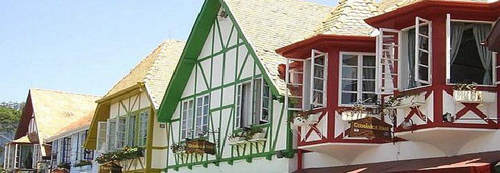 Faixada das casas típicas de Blumenau