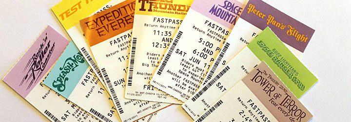 Ingressos de FastPass na Disney
